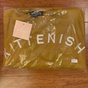 Kittenish Sweaters - Kittenish Mustard Logo Sweater